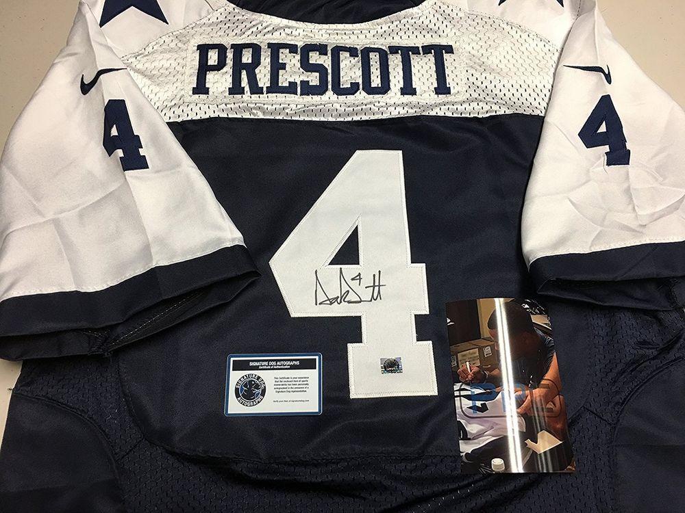 8ef55ffb5 Authentic Dak Prescott Dallas Cowboys NFL Football Signed Autographed Jersey   DallasCowboys  SignedJersey