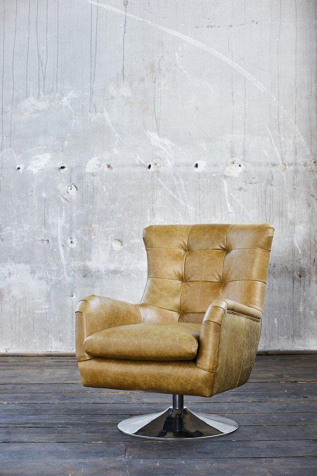 KasperWohndesign Sessel Leder drehbar verschiedene Farben