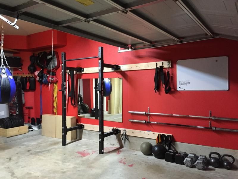 Garage gym pull up bench squat rig installation roman strength
