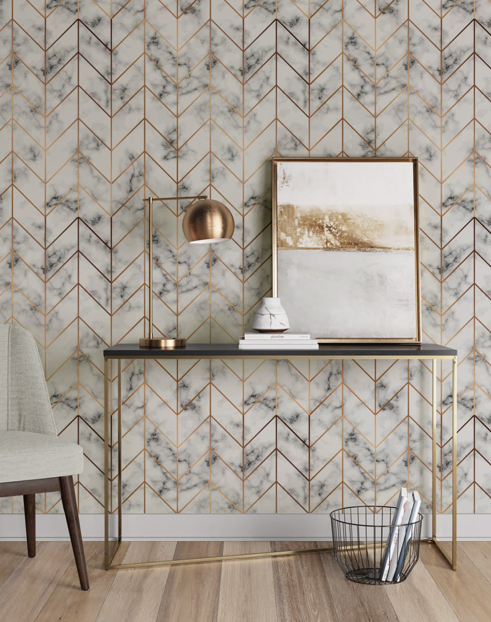 Marble Tile Texture Repositionable Removable Wallpaper
