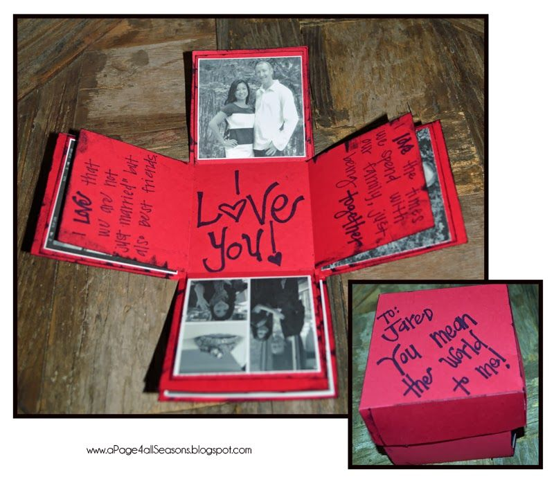 After 17 years of marriage, it is getting dang hard to find something original for the day of love!   Pinterest to the rescue!   Here are ...