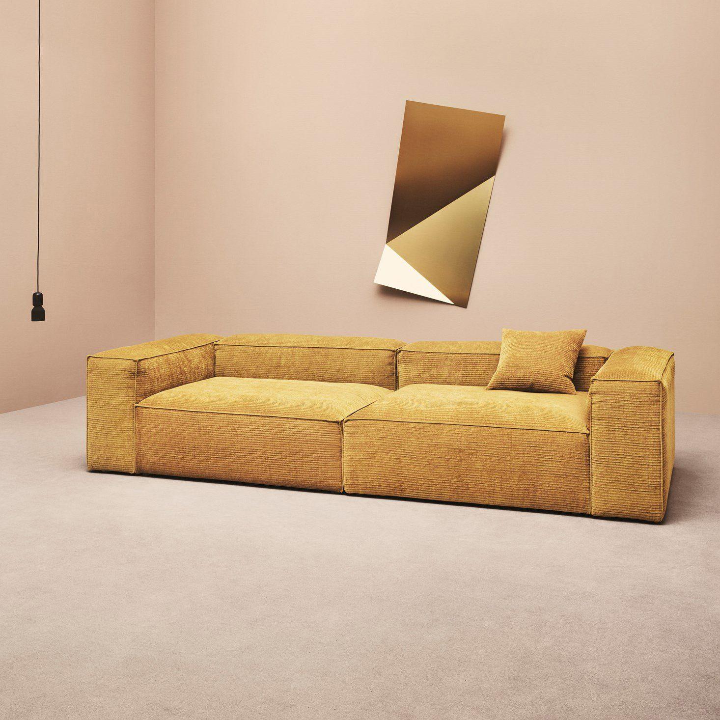 Velours côtelé : le grand retour | Interior | Canapé velours ...