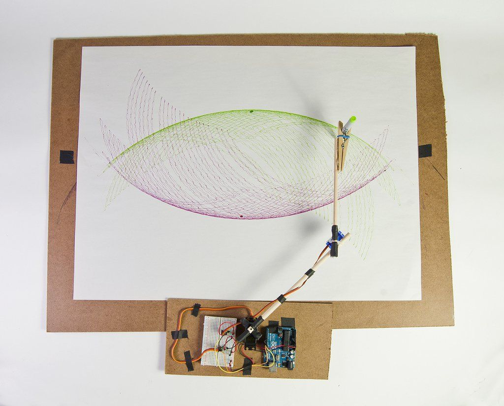 Arc O Matic An Arduino Controlled Art Bot Drawing Machine