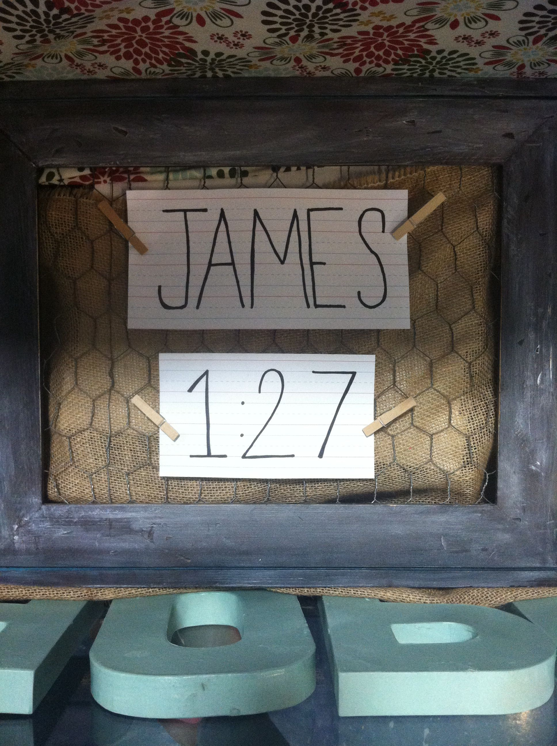 Make A Cute Bulletin Board Using A Picture Frame And