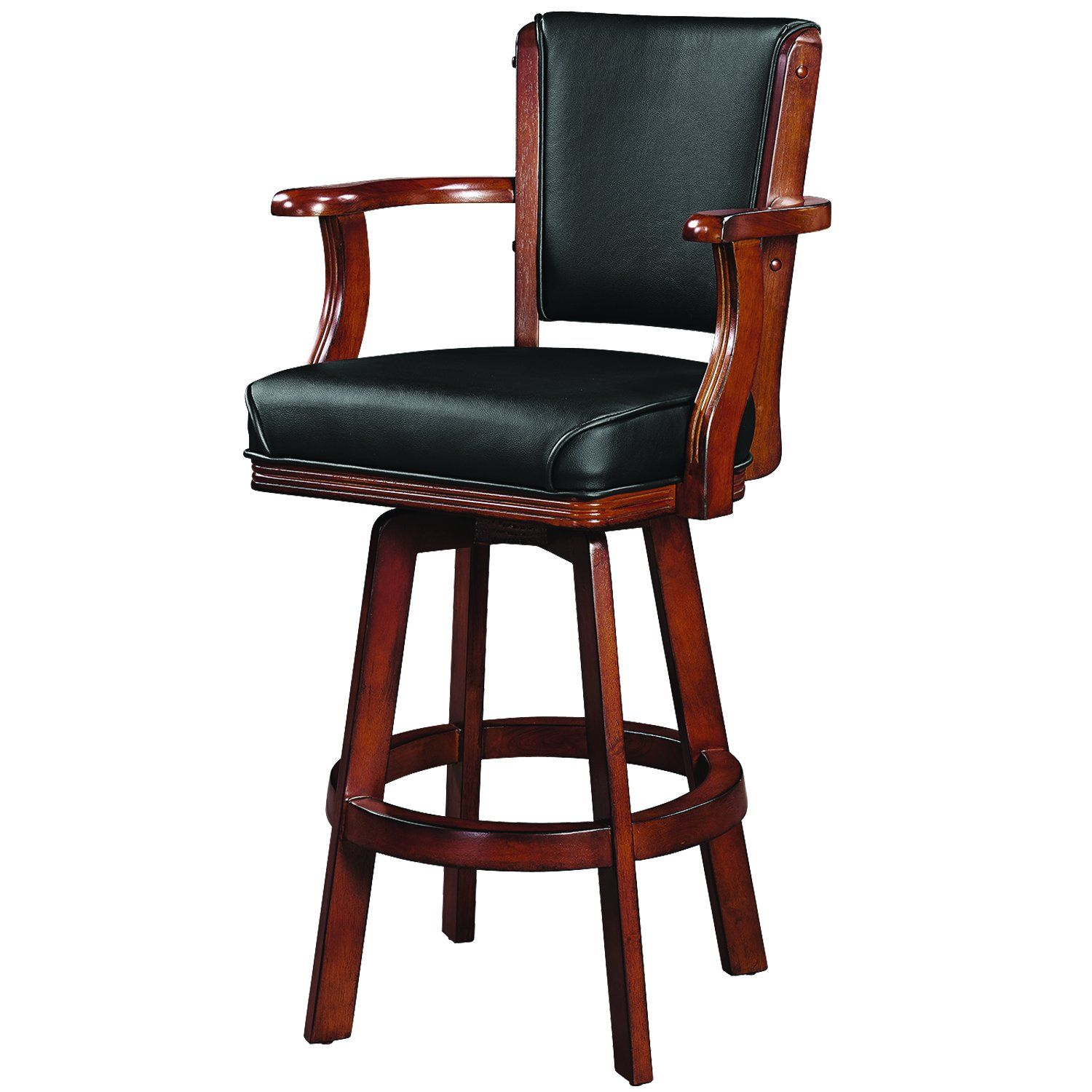 Ram Game Room Swivel Barstool With Arms Chestnut Bstl2 Cn Bar Stools Swivel Bar Stools Game Room