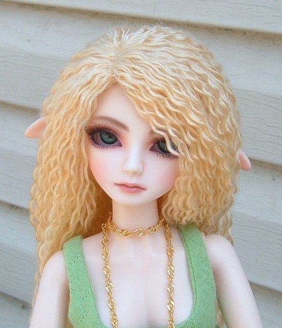 yarn doll wig tutorial making