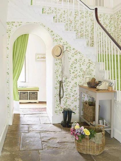 10 ideas para decorar el recibidor - Papel Pintado Recibidor