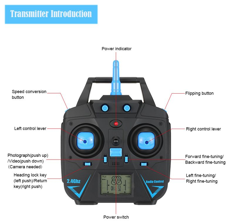 Original GoolRC T6 Waterproof 2 4G 4CH 6-Axis Gyro Drone with