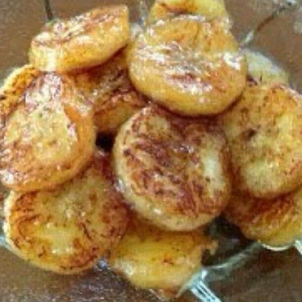 I've done this & they are soo GOOD! Baked banana.  slice banana drizzle honey sprinkle cinnamon bake 350 for 10 minutes.  Mix with yogurt if  desired