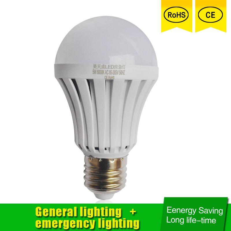 Luce Di Emergenza LED E27 5 w 7 W 9 W Ha Condotto La