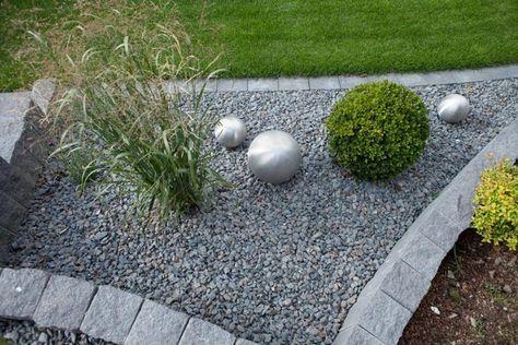 Gartengestaltungsideen Steingarten anlegen mit passender - gartenbeet steine anlegen