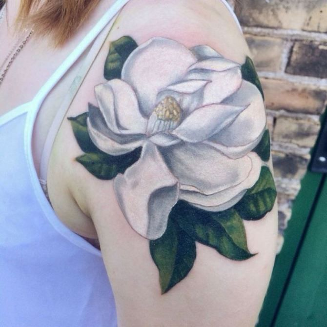 20 Magnolia Tattoos With Images Magnolia Tattoo White Flower