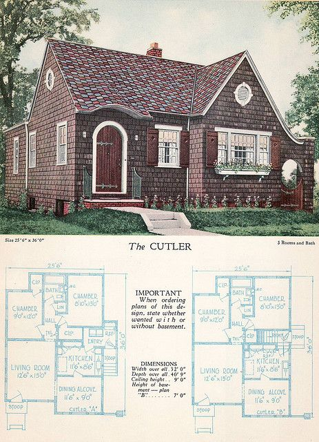 1928 Home Builders Catalog The Cutler Vintage House Plans Home Builders House Plans With Pictures