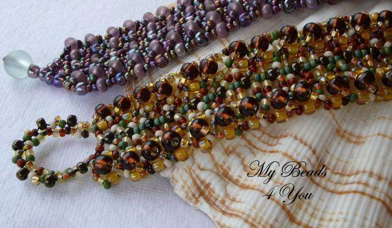 Beaded Bracelet Seed Bead Bracelet Embellished by mybeads4you,