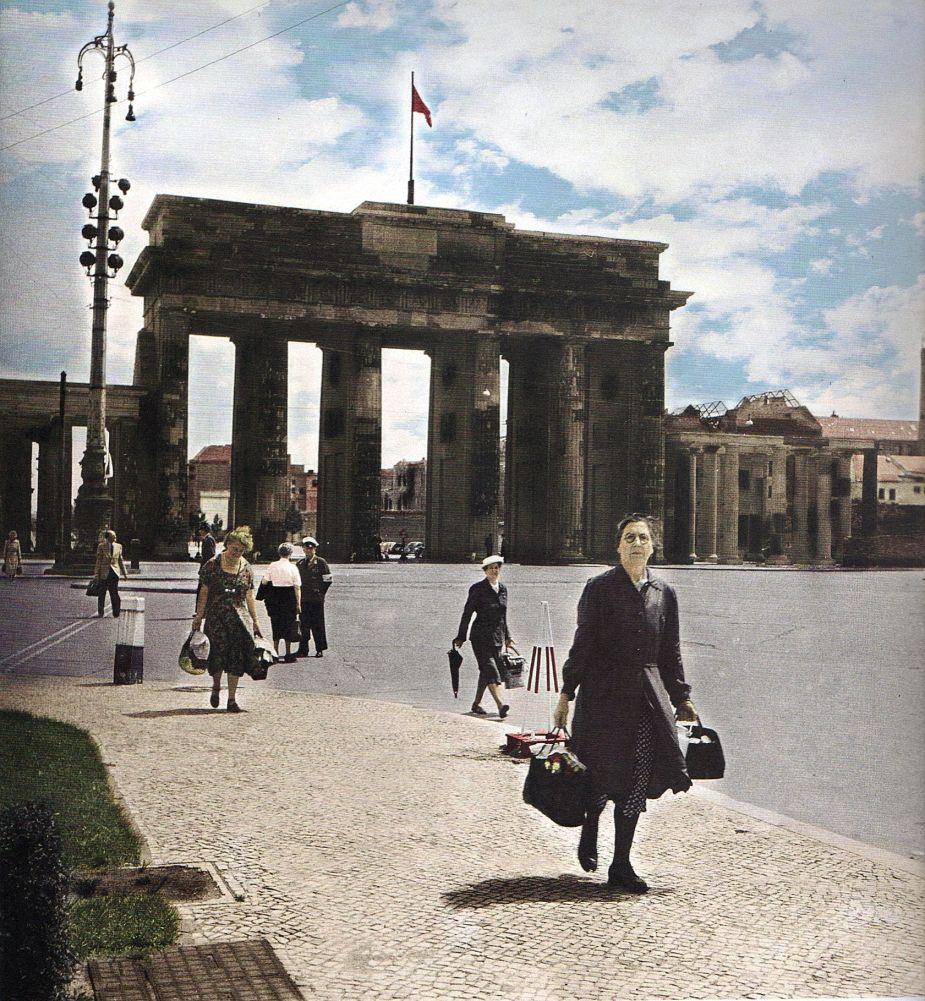 Berlin Brandenburger Tor 1953 Fotograf Unbekannt Brandenburger Tor Berlin Bilder