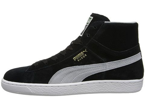 PUMA Suede Classic Mid Basic SP Black - Zappos.com Free Shipping BOTH Ways