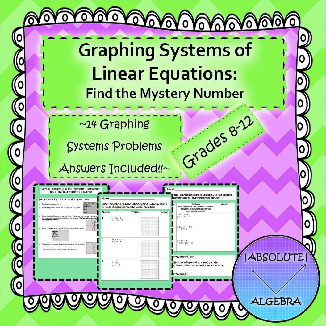 Graphing Systems Of Linear Equations With Calculator
