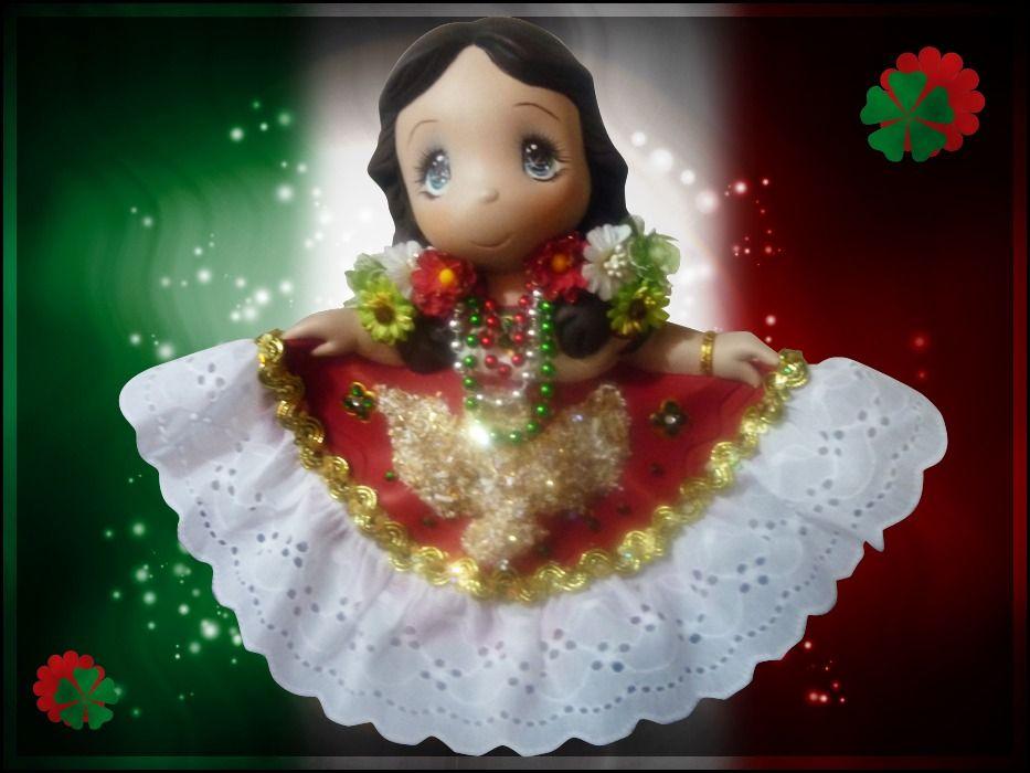Figura De Ceramica China Poblana Dulces Momentos Manualidades Ceramica China Muñecas Mexicanas