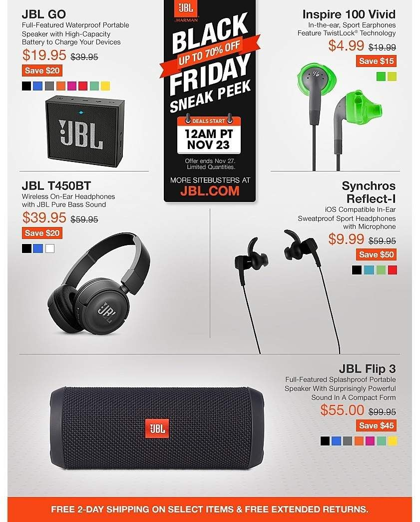 Jbl By Harman 2017 Black Friday Ad Black Friday Black Friday Ads Black Friday Shopping
