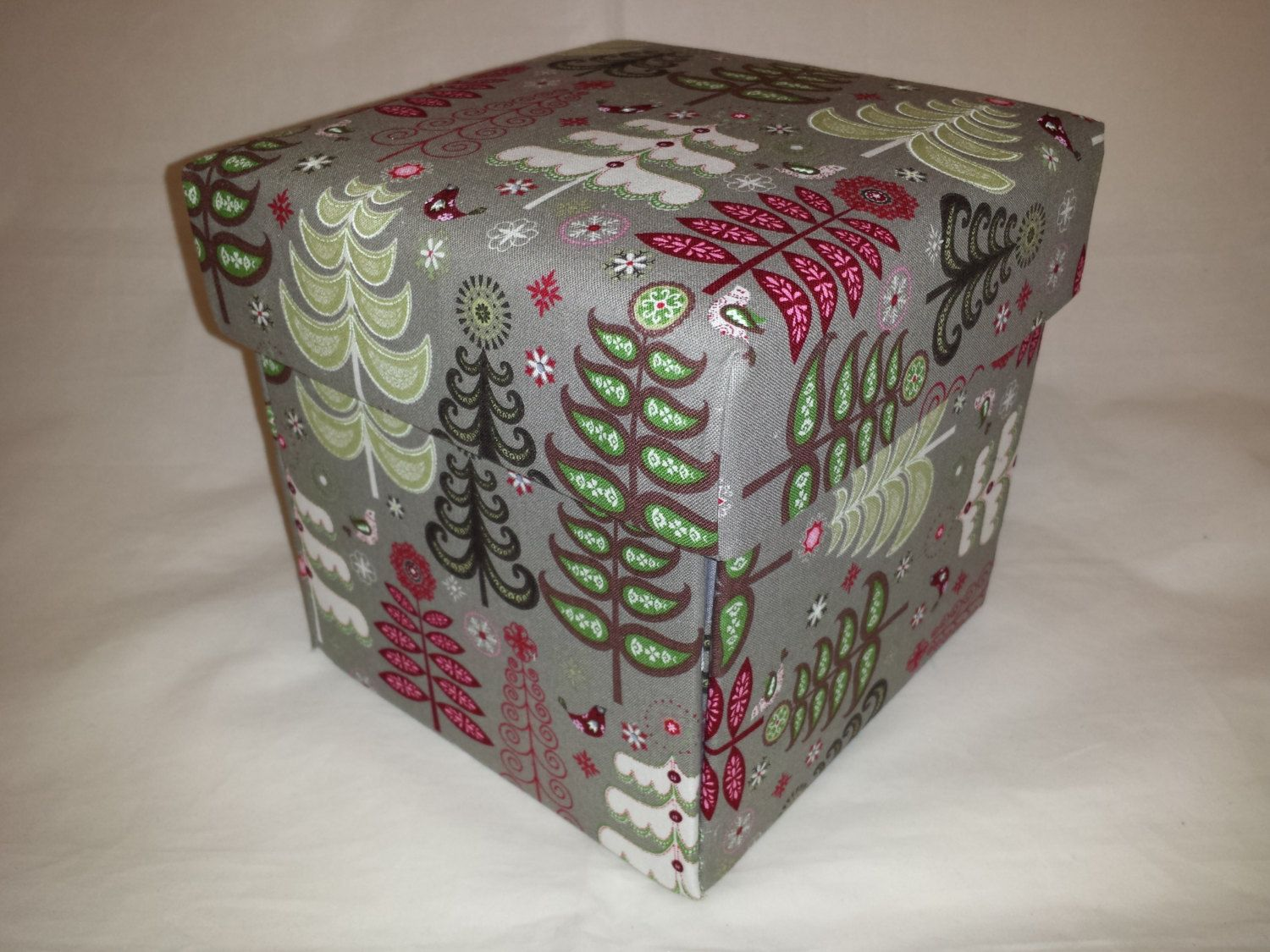 Christmas themed gift box gift boxes with lids