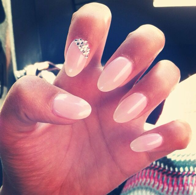 Almond nails :) not too round, not too pointy. Nails from my high ...
