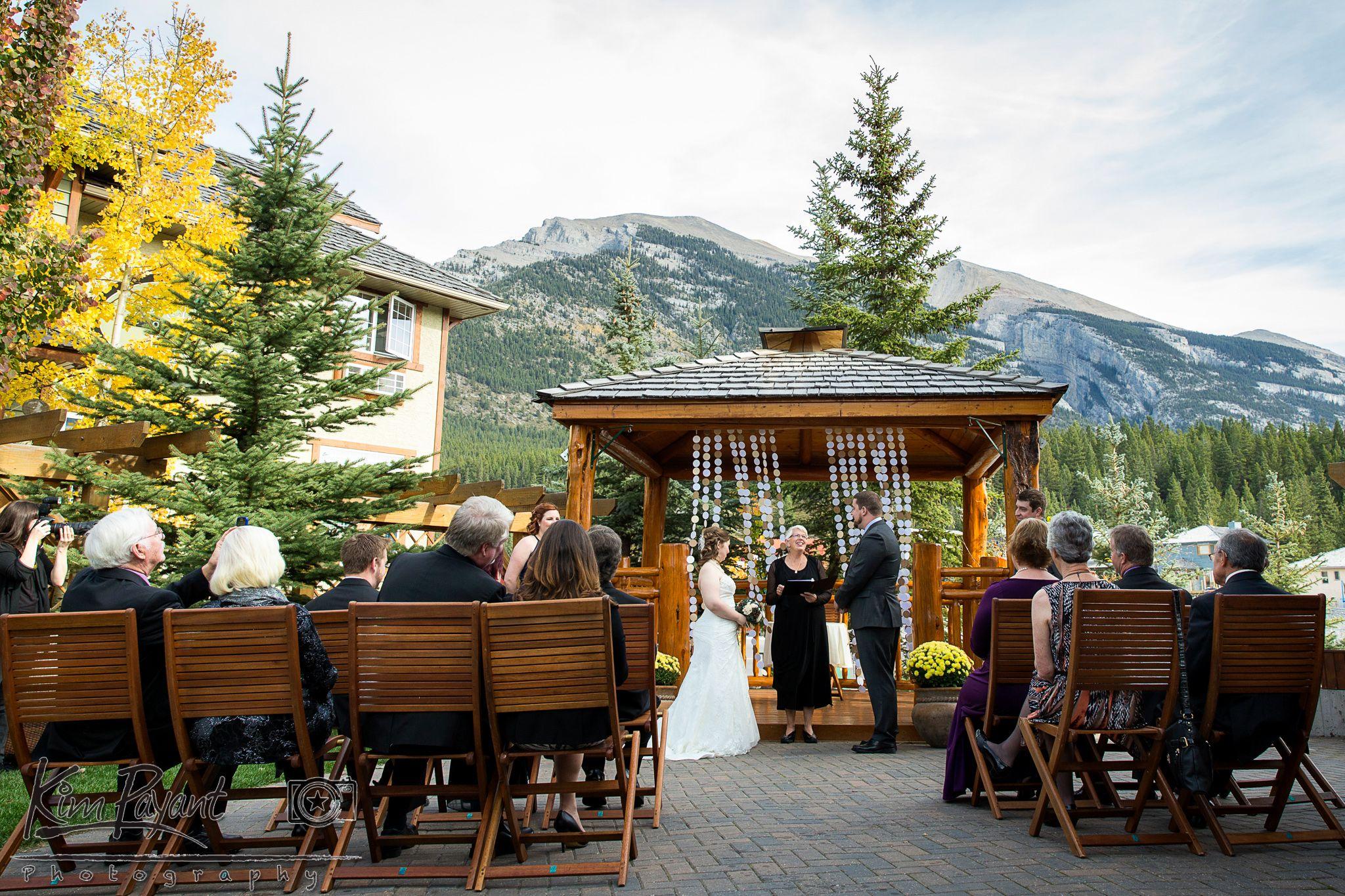 canmore outdoor wedding fall wedding autumn wedding bear and