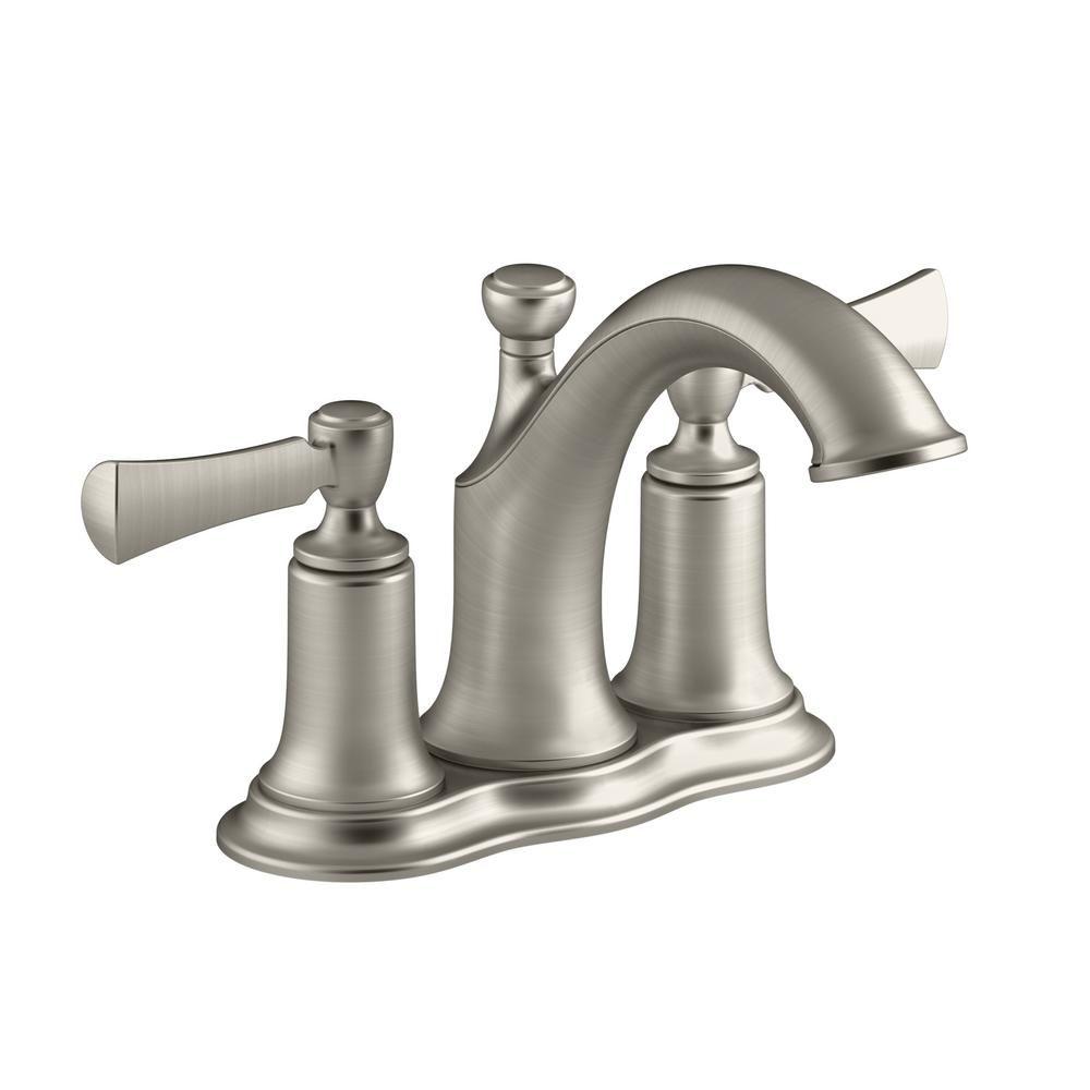 Kohler Elliston 4 In Centerset 2 Handle Bathroom Faucet In