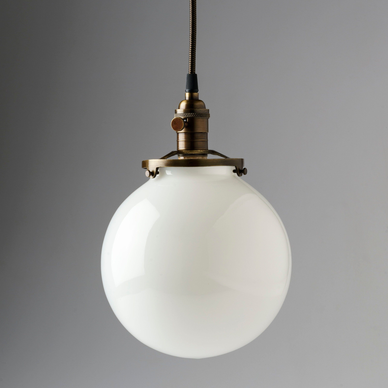 White Glass Globe Pendant Light Fixture With 8 Shade Etsy Globe Pendant Light Glass Globe Pendant Light Globe Pendant Light Fixture White glass pendant light