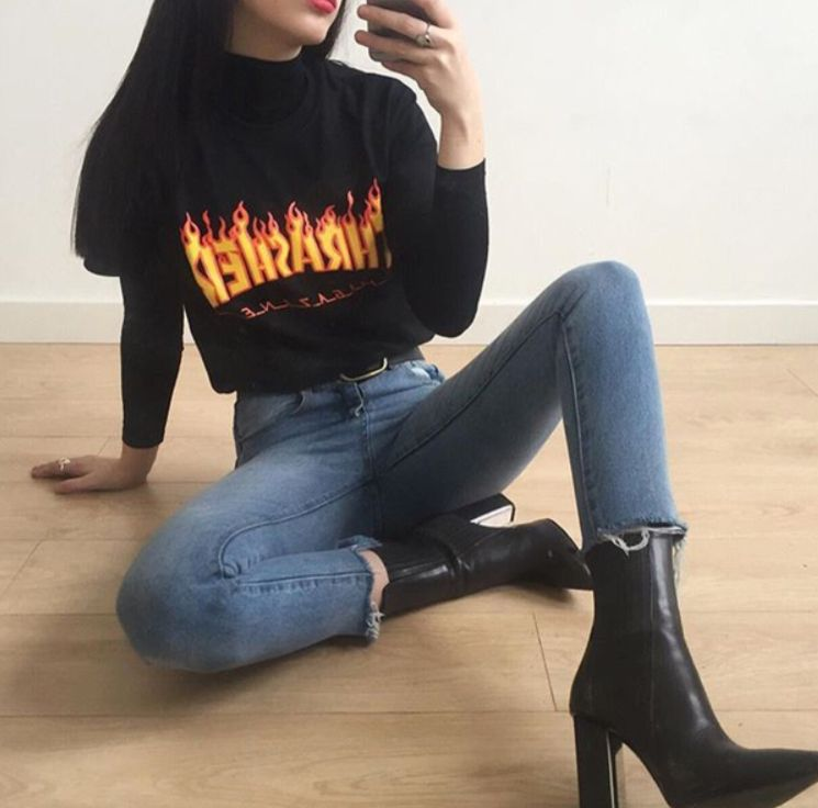 Pin by The Hunt on Dressed To A Tee | Pinterest | Thrasher Clothes and Charlotte