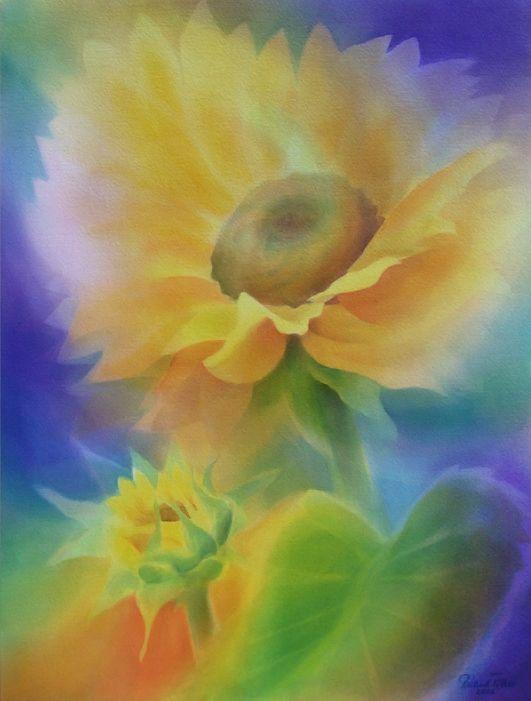 Sonnenblumen Aquarell Sonnenblume Blumenbilder Malerei