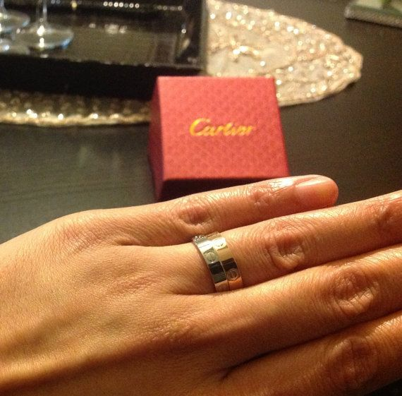 Titanium Cartier Inspired Love Ring By Luxuryinspirations On Etsy 30 00 Cartier Love Ring Love Ring Inspired Silver