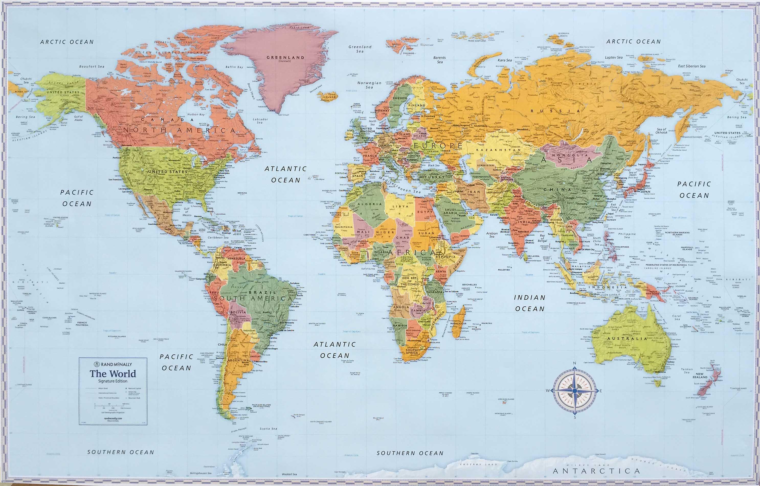 Rand Mcnally World Signature Wall Map Diy Home Touches border=