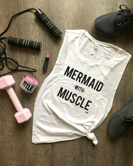 Mermaid with Muscle Tank Top EC01 1