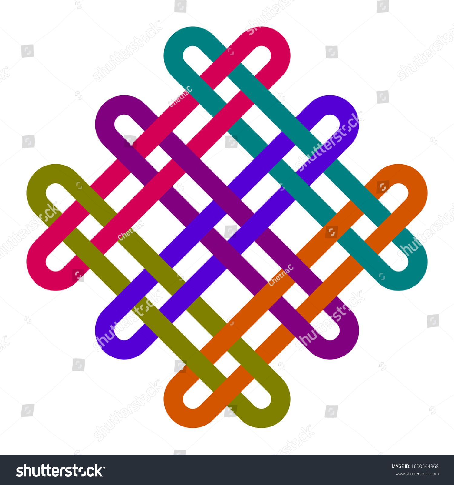 Mystical knot of longevity and health, a sign of good luck