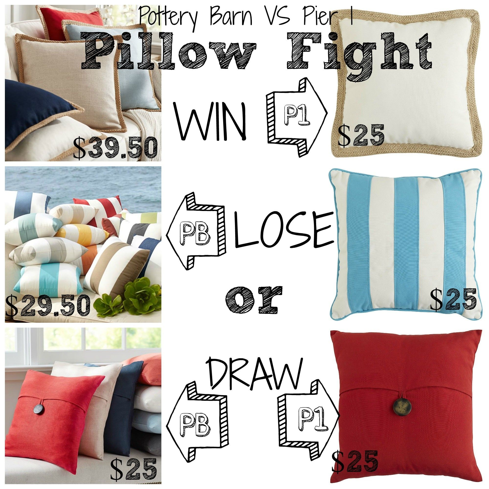Decor Look Alikes | Pottery Barn vs Pier 1: Pillow Fight, save up to ...