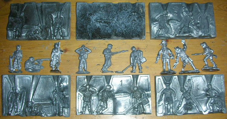 Lead Molds Lead Casting Set Soldier Molds Sewing