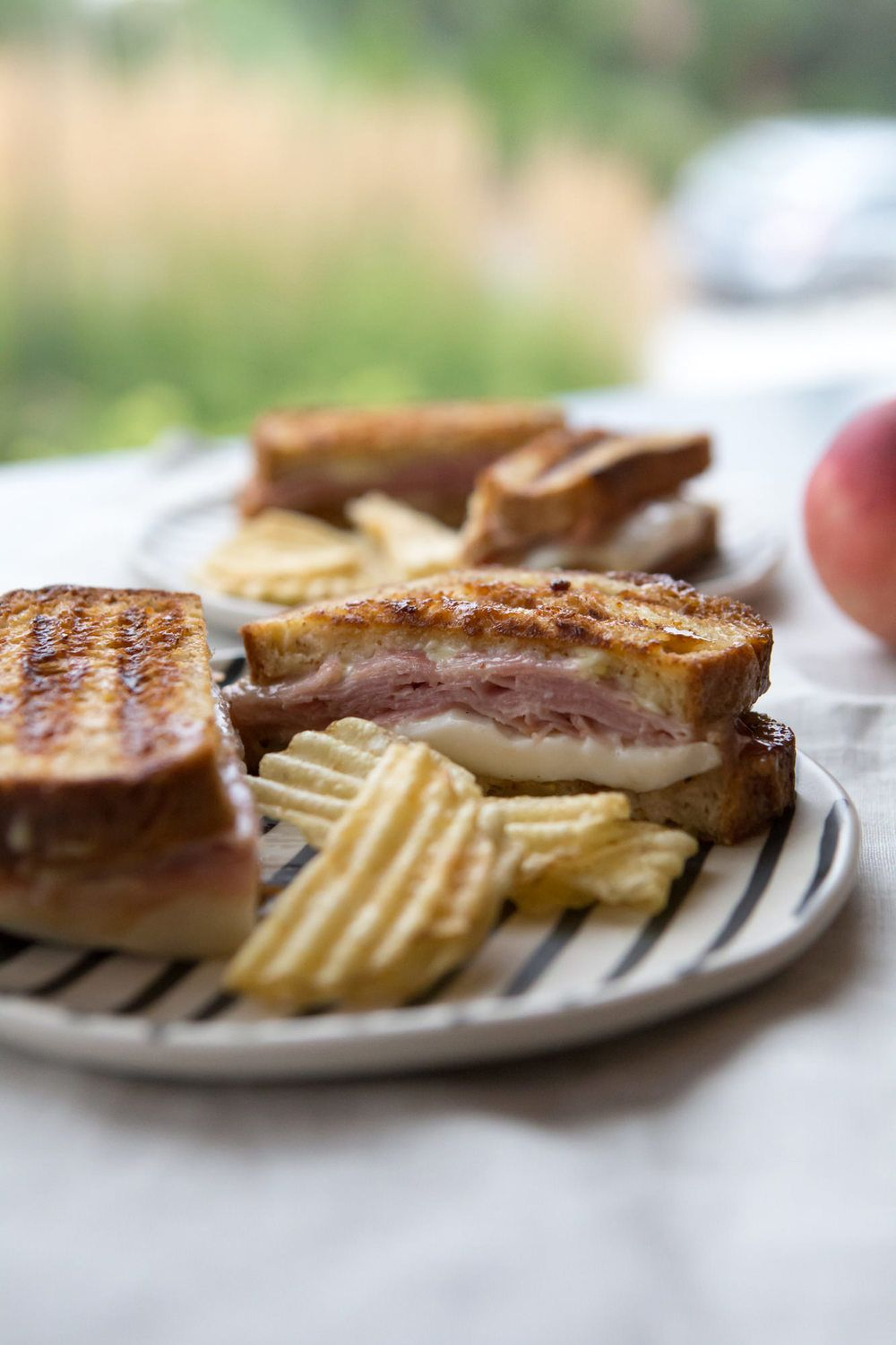 Gluten Free Ham & Whiskey Peach Grilled Cheese — Among the Colors