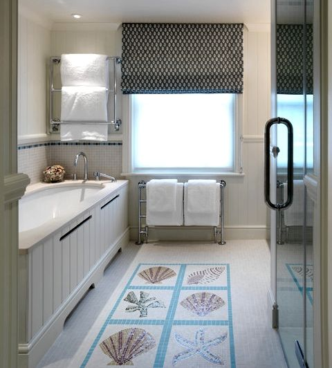 beach tile art for bathrooms and kitchens inspired from the beach rh pinterest com