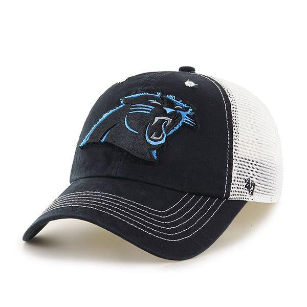 Carolina Panthers Blue Mountain Black 47 Brand Stretch Fit Hat  375c96cbde67