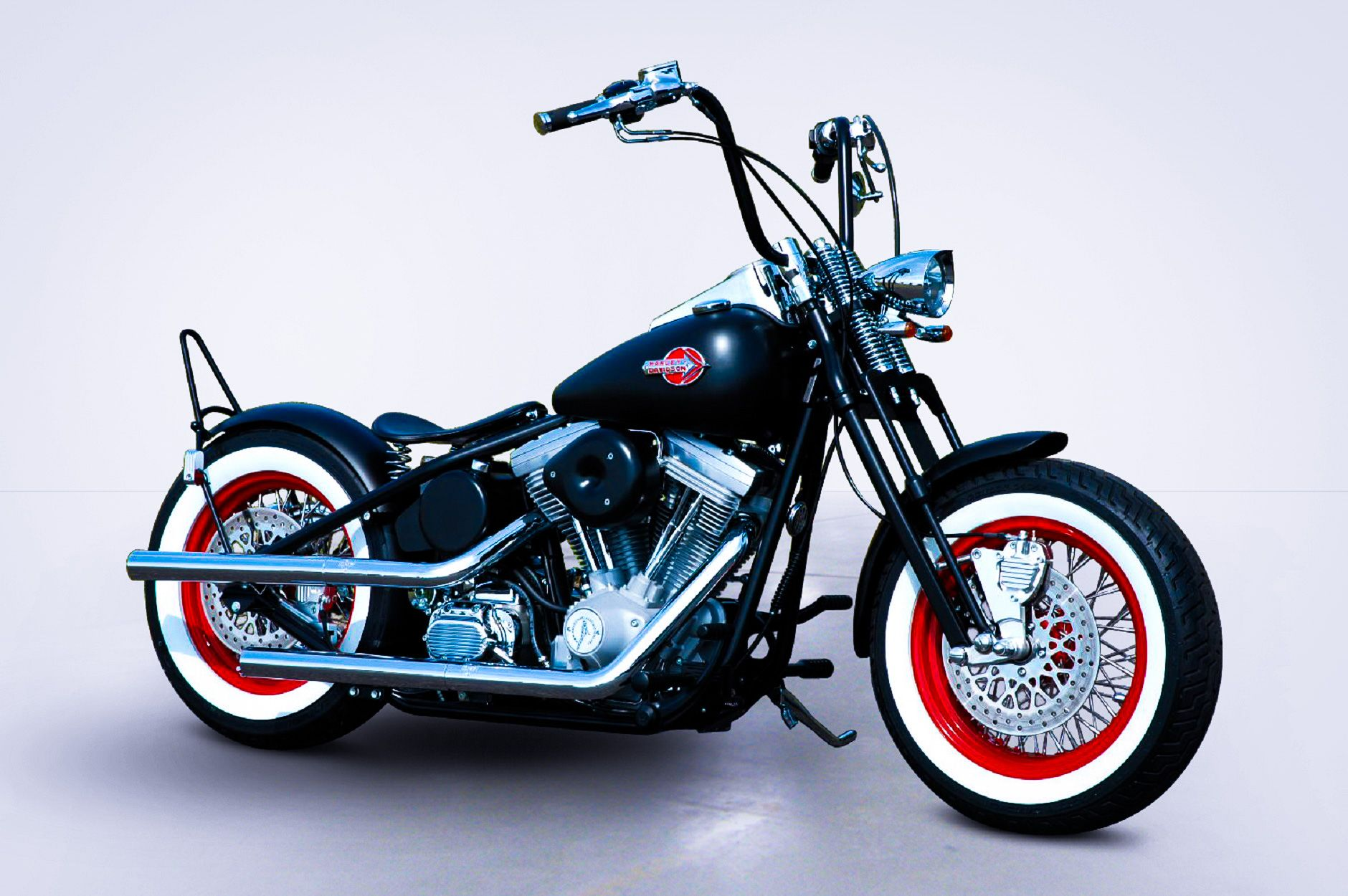 Wheel Hot Rod Bobber - KraftTech Frame featuring Stock Stretch with ...