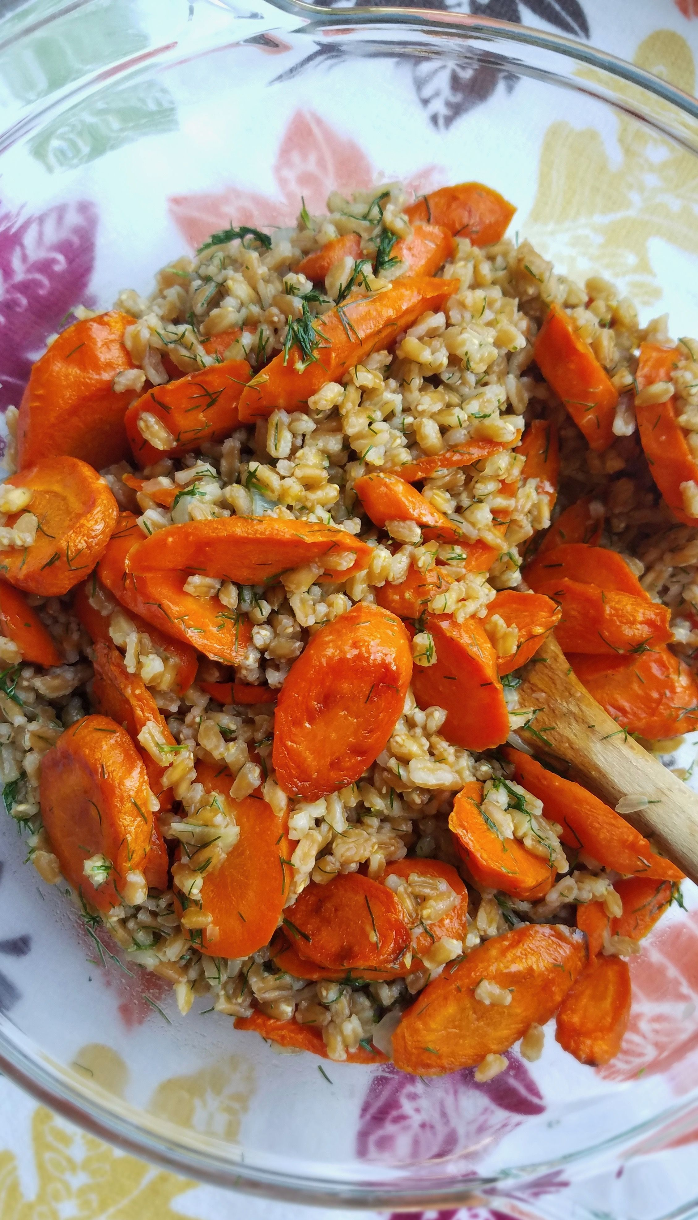 Roasted Carrots and Farro with Citrus, Ginger and Dill Roasted Carrots and Farro with Citrus, Ginger and Dill - This recipe works well as a warm side or as a cold grain salad.  A great work lunch, hearty Thanksgiving or everyday side.