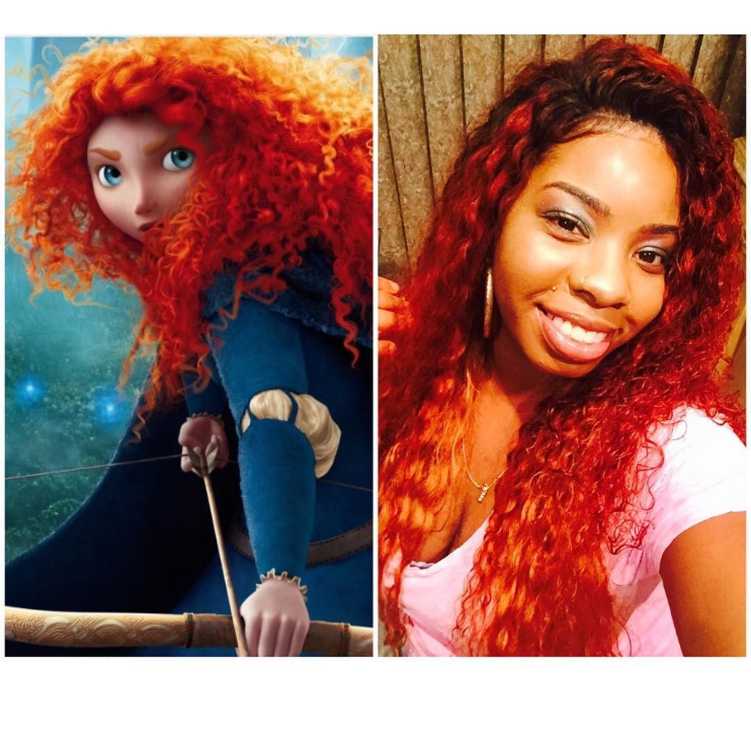 The Inspiration to my hair color lol  Always Be Inspired  #disneysBrave  #bigKid #hair #hairinspiration #fullheadweave #laceclosure#curlyhair by curlupanddyejanet
