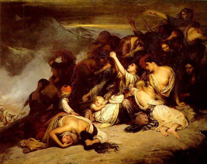 Ary Scheffer: Gratë Suliote, 1827 (Muzeu i Luvrit)