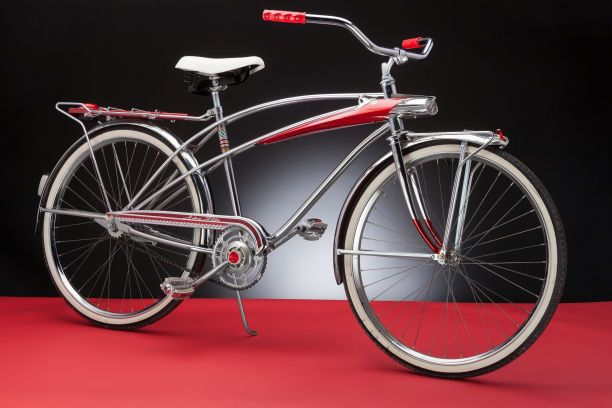 Furniture : American, Viktor Schreckengost (American, 1906-2008). Red Astro FlightBicycle, 1965, Murray Ohio Manufacturing Company. Enameled ...