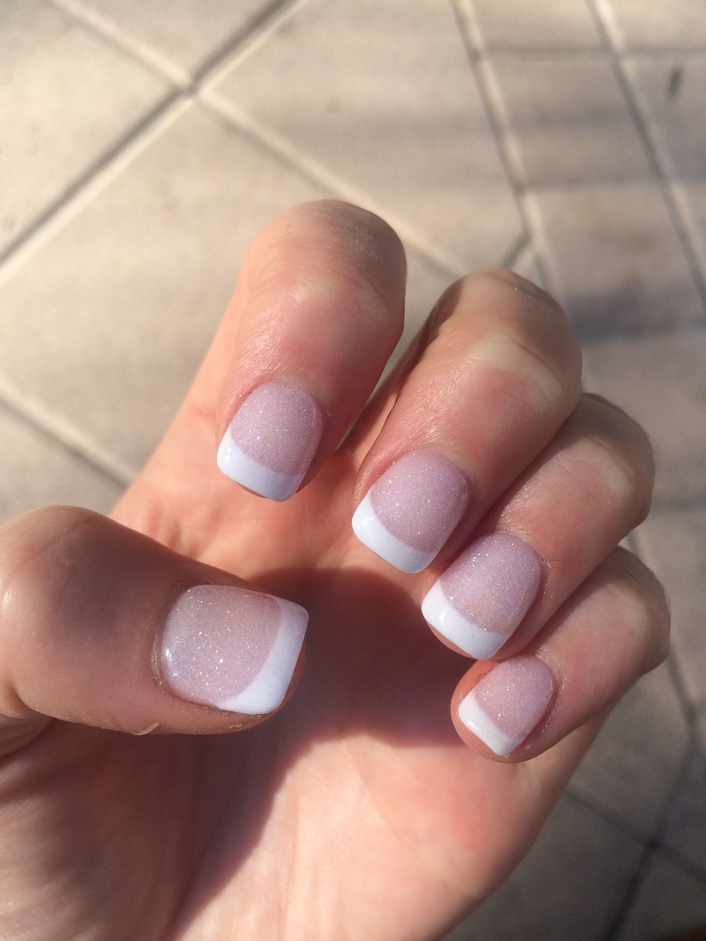 French manicure sparkle glitter Nexgen for a wedding | Nailed it ...