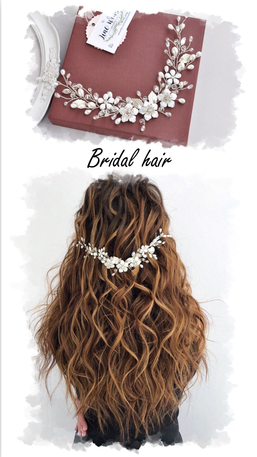 Wedding headpiece  #bridalhairflowers