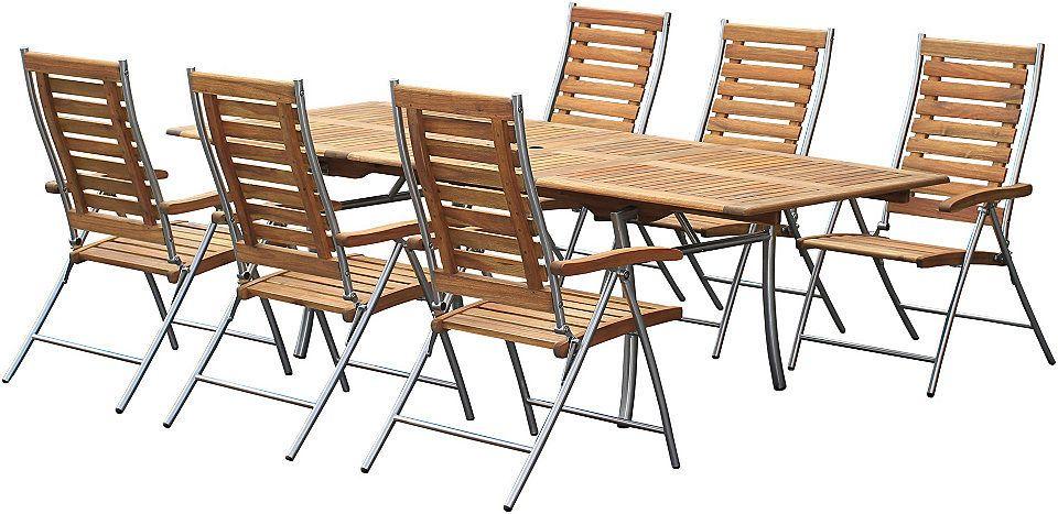Bellasole Gartenmobelset Kopenhagen 7 Tlg 6 Sessel Tisch 100x180 250 Cm Akazie Klappbar Jetzt Bestellen Unter Https Moebel La Gartenmobel Mobel Sets