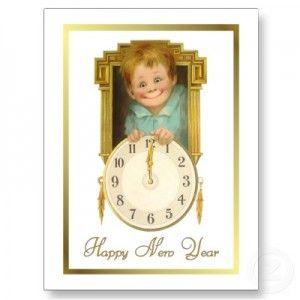 Happy New Year Vintage Image