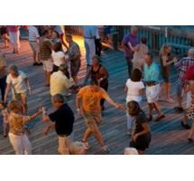 """Moonlight Mixers"" on Friday, September 20, 2013.  Get ready to shag the night away as DJ Jim Bowers plays some oldies and beach music!"