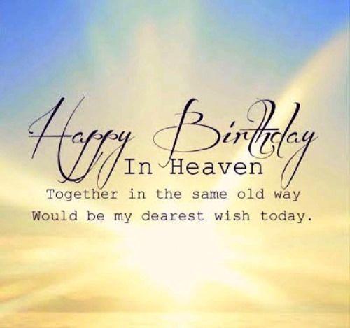 Heaven Happy My Quotes Husband Birthday